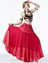 رقص شرقي أزياء نسائي التدريب / أداء بوليستر ruching في / شرابة بدون كم ارتفاع منخفض تنانير / حمالة صدر / الخصر الإكسسوار