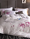 Duvet Cover Sets Floral / Contemporary Cotton Embroidery 4 PieceBedding Sets