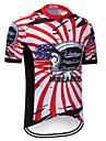 TELEYI Heren Korte mouw Wielrenshirt - Rood / Wit Fietsen Shirt Kleding Bovenlichaam Sneldrogend Sport Teryleen Bergracen Wegwielrennen Kleding / Micro-elastisch