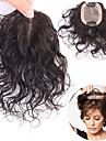 Laflare クリップ式 かつら 人間の髪の拡張機能 カール 人毛 ペニス増強 人毛エクステンション ヘアピース ブラジリアンヘア 1個 ファッショナブル ソフト 最高品質 女性用 ブラック