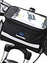 ROSWHEEL 4.5 L حقيبة المقود للدراجة مكتشف الرطوبة يمكن ارتداؤها مقاومة الهزة حقيبة الدراجة PVC 600D بوليستر حقيبة الدراجة حقيبة الدراجة Samsung Galaxy S6 / أيفون 4/4S / LG G3 أخضر / الدراجة