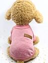 Собаки Жилет Одежда для собак Однотонный Серый Розовый Хаки Ткань для подбивки Костюм Назначение Весна & осень Зима Универсальные Сохраняет тепло Плетеный
