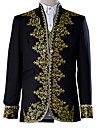 Prince Blouse / Shirt Cosplay Costume Masquerade Vest Blazer Jacket & Pants Men\'s Baroque Medieval 18th Century Halloween Carnival Festival / Holiday Lace Polyester Black Carnival Costumes Solid