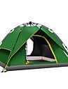 3 osoby Rodinné kempování stan Outdoor Větruvzdorné Odolné vůči dešti Prodyšnost dvouvrstvé Tyč Camping Tent 2000-3000 mm pro Kempování a turistika cestování Piknik Tkanina Oxford stříbrná páska