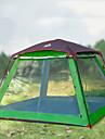 Hewolf 8 osob Rodinné kempování stan Outdoor Větruvzdorné Odolné vůči dešti Nositelný dvouvrstvé Tyč Camping Tent >3000 mm pro Kempování a turistika Piknik Tkanina Oxford 300*300*215 cm