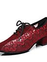 Pentru femei Dantelă Pantofi Jazz Dantelă Călcâi Grosime călcâială Personalizabili Negru / Maro / Rosu / Performanță