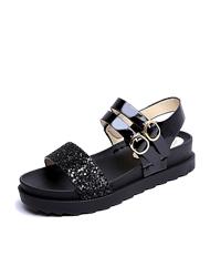 Sandalen met platte hak